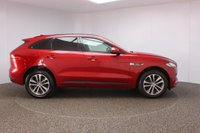 USED 2016 16 JAGUAR F-PACE 2.0 R-SPORT 5DR SAT NAV 1 OWNER 178 BHP FULL JAGUAR SERVICE HISTORY + HEATED LEATHER SEATS + SATELLITE NAVIGATION + PARKING SENSOR + HEATED STEERING WHEEL + BLUETOOTH + CRUISE CONTROL + CLIMATE CONTROL + MULTI FUNCTION WHEEL + LANE ASSIST SYSTEM + XENON HEADLIGHTS + PRIVACY GLASS + DAB RADIO + ELECTRIC WINDOWS + RADIO/CD/AUX/USB/SD + ELECTRIC/HEATED DOOR MIRRORS + 19 INCH ALLOY WHEELS