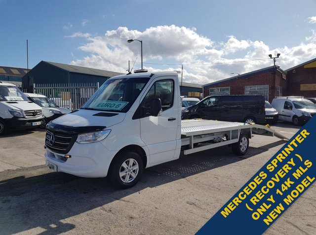 USED 2018 68 MERCEDES-BENZ SPRINTER RECOVERY TRANSPORTER CAR VAN EURO 6  VAN MERCEDES SPRINTER RECOVERY TRUCK NEW MODEL