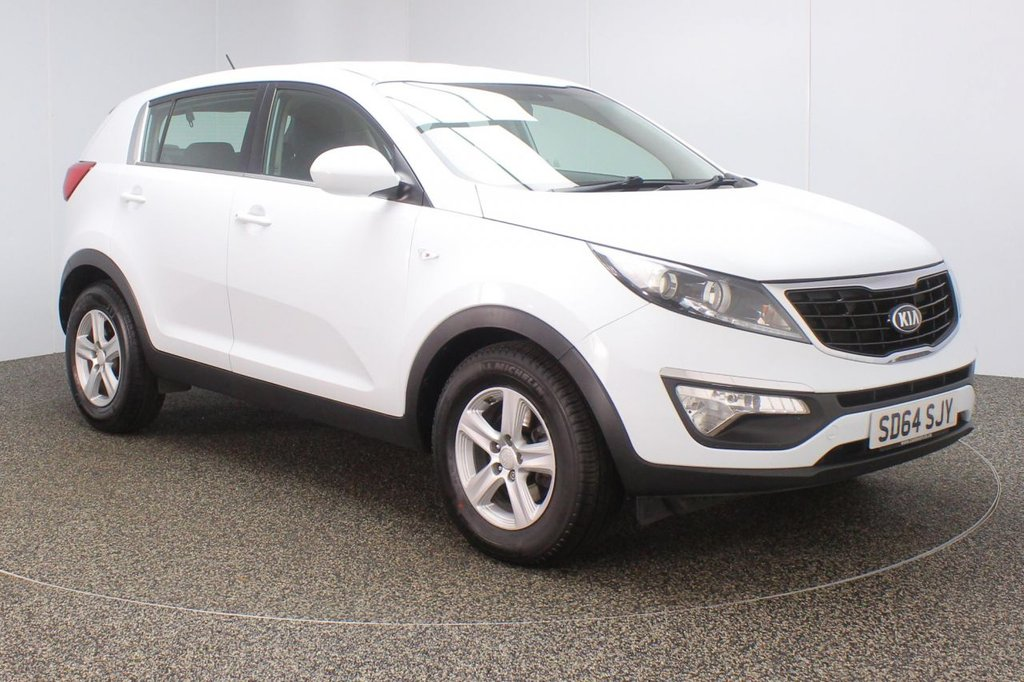 USED 2014 64 KIA SPORTAGE 1.7 CRDI 1 5DR 114 BHP FULL SERVICE HISTORY + BLUETOOTH + CRUISE CONTROL + MULTI FUNCTION WHEEL + AIR CONDITIONING + RADIO/CD/AUX/USB + XENON HEADLIGHTS + ELECTRIC WINDOWS + ELECTRIC/HEATED DOOR MIRRORS + 16 INCH ALLOY WHEELS