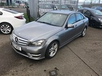 2013 MERCEDES-BENZ C CLASS 1.6 C180 BLUEEFFICIENCY AMG SPORT 4d 154 BHP £10999.00