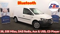 2016 VOLKSWAGEN CADDY  1.6 C20 TDI STARTLINE in White with 38,335 Miles, Bluetooth, DAB Radio, Electric Windows & Mirrors, Aux & USB, Sliding Door and more £6980.00