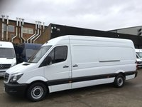 USED 2016 66 MERCEDES-BENZ SPRINTER 2.1 314 CDI LWB HIGH ROOF 140BHP EURO 6 ULEZ. FINANCE. PX EURO 6 ULEZ. 1 OWNER. F/S/H. LOW FINANCE. PX WELCOME.