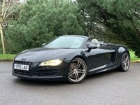 USED 2010 R AUDI R8 5.2 SPYDER V10 QUATTRO 2d 518 BHP FULL FAT V10 SPYDER, FULL SPEC, LOW MILES, STUNNING CONDITION INSIDE AND OUT, FINANCE AVAILABLE!!!