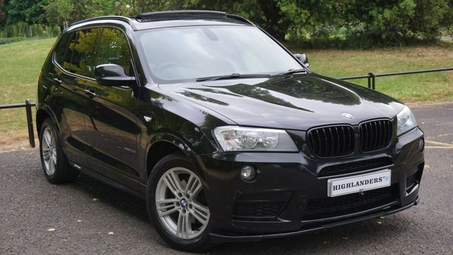 USED 2012 12 BMW X3 2.0 XDRIVE20D M SPORT RED LEATHER PRO SAT NAV OPEN PAN ROOF PRIVACY