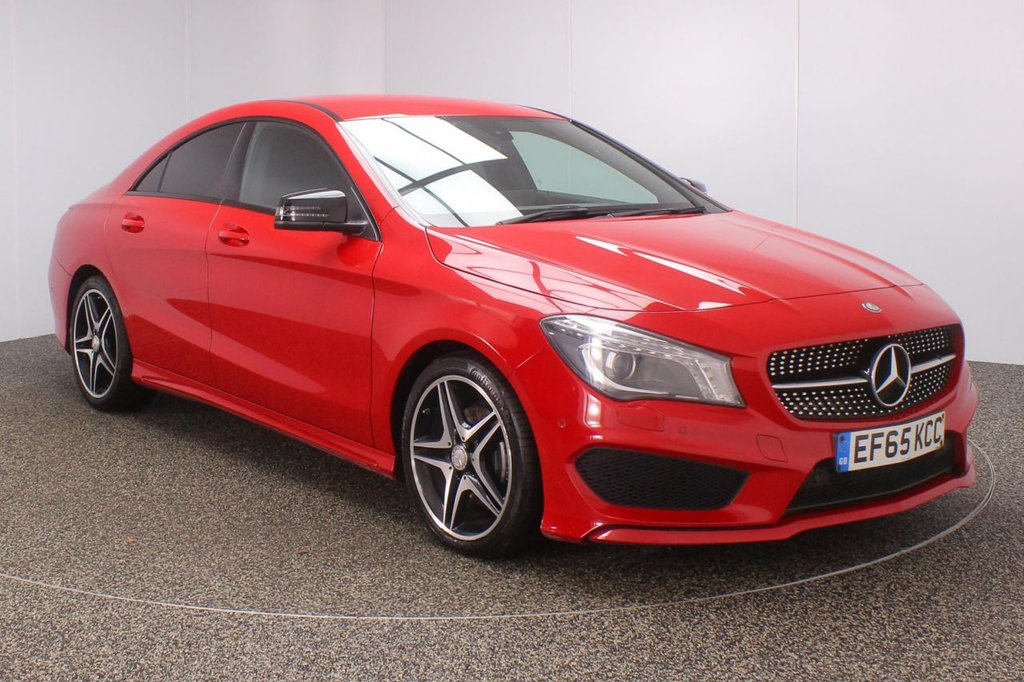 USED 2016 65 MERCEDES-BENZ CLA 2.1 CLA200D AMG SPORT 4DR AUTO 134 BHP FULL SERVICE HISTORY + HALF LEATHER SEATS + ACTIVE PARK ASSIST + PARKING SENSOR + BLUETOOTH + CRUISE CONTROL + CLIMATE CONTROL + MULTI FUNCTION WHEEL + XENON HEADLIGHTS +  PRIVACY GLASS + DAB RADIO + ELECTRIC WINDOWS + ELECTRIC/HEATED DOOR MIRRORS + 18 INCH ALLOY WHEELS