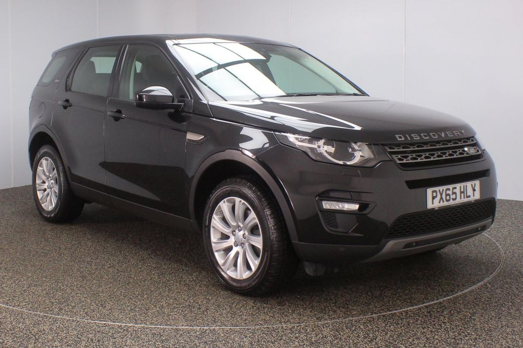 USED 2016 65 LAND ROVER DISCOVERY SPORT 2.0 TD4 SE TECH 5DR AUTO 7 SEATS 1 OWNER 180 BHP  LAND ROVER SERVICE HISTORY + HEATED LEATHER SEATS + 7 SEATS + SATELLITE NAVIGATION + PARKING SENSOR + BLUETOOTH + CRUISE CONTROL + CLIMATE CONTROL + MULTI FUNCTION WHEEL + LANE ASSIST SYSTEM + DAB RADIO + ELECTRIC WINDOWS + RADIO/AUX/USB + ELECTRIC/HEATED MIRRORS + 18 INCH ALLOY WHEELS