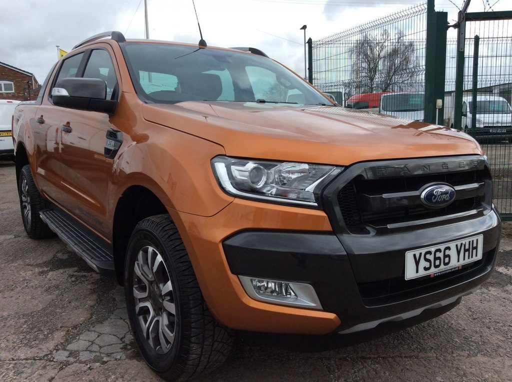 USED 2016 66 FORD RANGER 3.2 WILDTRAK AUTO 4X4 DCB TDCI 4d 197 BHP 1 OWNER FSH NEW MOT FREE 6 MONTHS AA WARRANTY INCLUDING RECOVERY AND ASSIST NEW MOT EURO 6 AIR CONDITIONING CRUISE CONTROL SATELLITE NAVIGATION BLUETOOTH ELECTRIC WINDOWS AND MIRRORS REAR PARKING SENSORS WITH REAR CAMERA ALLOY WHEELS SPARE KEY