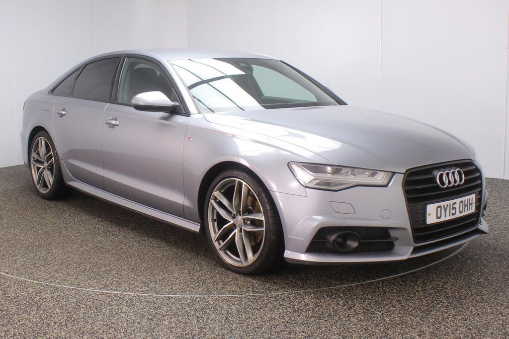 USED 2015 15 AUDI A6 2.0 TDI ULTRA BLACK EDITION 4DR AUTO 188 BHP AUDI SERVICE HISTORY + £30 12 MONTHS ROAD TAX + HEATED HALF LEATHER SEATS + SATELLITE NAVIGATION + PARKING SENSOR + BLUETOOTH + CRUISE CONTROL + CLIMATE CONTROL + MULTI FUNCTION WHEEL + XENON HEADLIGHTS + PRIVACY GLASS + DAB RADIO + LANE ASSIST SYSTEM + ELECTRIC WINDOWS + ELECTRIC/HEATED DOOR MIRRORS + 20 INCH ALLOY WHEELS