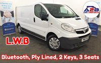 2013 VAUXHALL VIVARO  2.0 2900 CDTI 115 BHP Long Wheel Base with Bluetooth, 3 Seats, Fully Ply Lined and more £6480.00