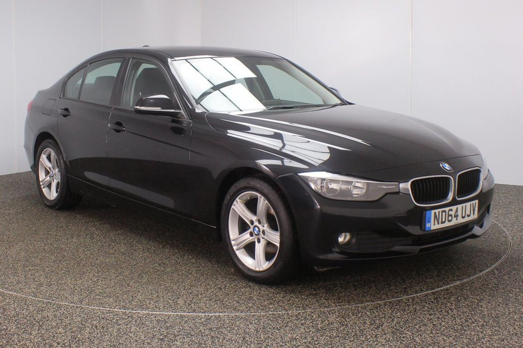 USED 2014 64 BMW 3 SERIES 2.0 316D ES 4DR 1 OWNER 114 BHP FULL SERVICE HISTORY + £30 12 MONTHS ROAD TAX + BLUETOOTH + CRUISE CONTROL + CLIMATE CONTROL + MULTI FUNCTION WHEEL + DAB RADIO + ELECTRIC WINDOWS + RADIO/CD/AUX/USB + ELECTRIC/HEATED DOOR MIRRORS + 17 INCH ALLOY WHEELS