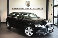 """USED 2015 15 AUDI A3 2.0 TDI SPORT 5DR AUTO 148 BHP Finished in a stunning black styled with 17"""" alloys. Upon opening the drivers door you are presented with cloth upholstery, full service history, bluetooth, DAB radio, climate control, multi functional steering wheel, heated mirrors, ULEZ EXEMPT"""