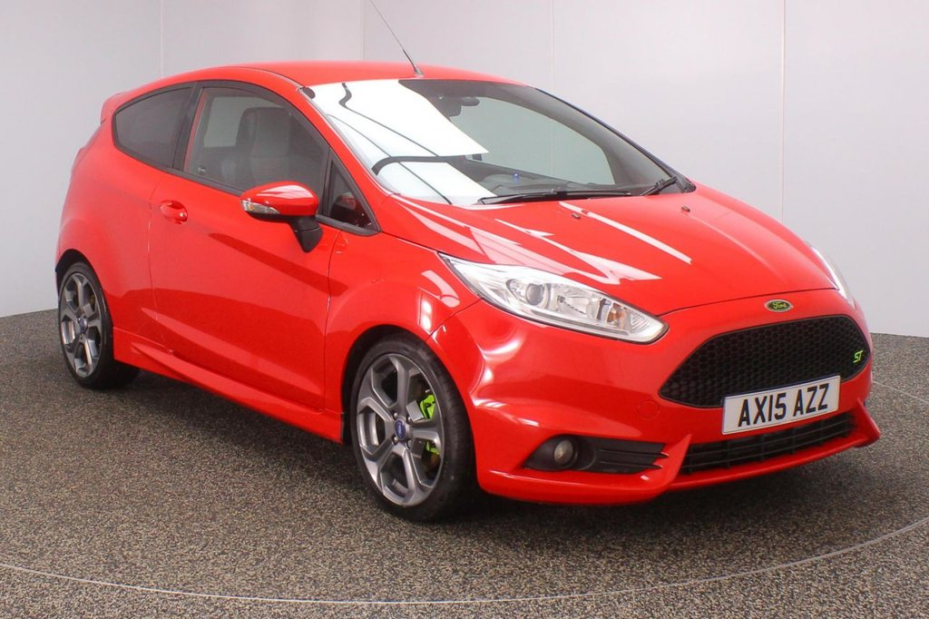USED 2015 15 FORD FIESTA 1.6 ST-2 3DR 180 BHP FULL SERVICE HISTORY + HEATED HALF LEATHER SEATS + BLUETOOTH + MULTI FUNCTION WHEEL + RECARO SPORT SEATS + AIR CONDITIONING + DAB RADIO + XENON HEADLIGHTS + PRIVACY GLASS + ELECTRIC WINDOWS + ELECTRIC/HEATED DOOR MIRRORS + 17 INCH ALLOY WHEELS