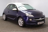 USED 2014 14 VAUXHALL ADAM 1.2 JAM 3DR 69 BHP SERVICE HISTORY + BLUETOOTH + CRUISE CONTROL + MULTI FUNCTION WHEEL + AIR CONDITIONING + RADIO/CD/AUX/USB + ELECTRIC WINDOWS + ELECTRIC/HEATED DOOR MIRRORS + 16 INCH ALLOY WHEELS
