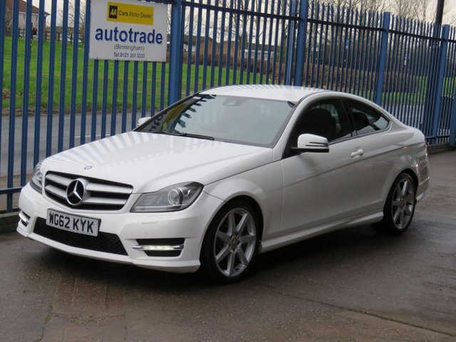 USED 2012 62 MERCEDES-BENZ C CLASS 2.1 C220 CDI BLUEEFFICIENCY AMG SPORT 2dr Coupe Sat nav 1/2 Leather DAB Cruise Finance arranged Part exchange available Open 7 days