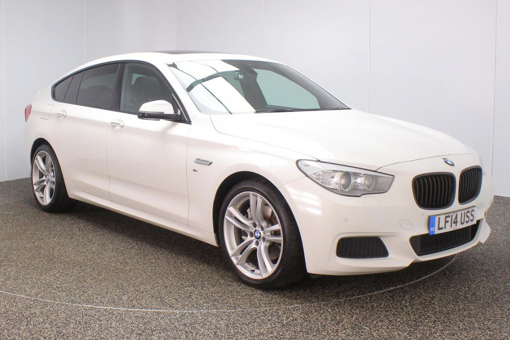USED 2014 14 BMW 5 SERIES GRAN TURISMO 2.0 520D M SPORT GRAN TURISMO 5DR AUTO SAT NAV 181 BHP FULL SERVICE HISTORY + FRONT/HEATED LEATHER SEATS + SATELLITE NAVIGATION + PANORAMIC ROOF + REVERSE CAMERA + PARKING SENSOR + HEATED STEERING WHEEL + BLUETOOTH + CRUISE CONTROL + CLIMATE CONTROL + MULTI FUNCTION WHEEL + PRIVACY GLASS + DAB RADIO + XENON HEADLIGHTS + RADIO/CD/AUX/USB + ELECTRIC WINDOWS + ELECTRIC/HEATED DOOR MIRRORS + 20 INCH ALLOY WHEELS