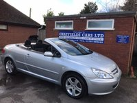 USED 2005 05 PEUGEOT 307 COUPE CABRIOLET CABRIOLET CONVERTIBLE ONLY 65K MILES