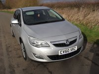 2011 VAUXHALL ASTRA 1.4 EXCLUSIV 5d 98 BHP £3495.00