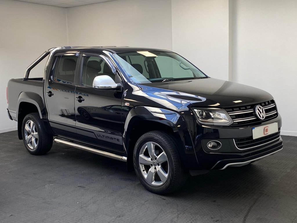 USED 2015 15 VOLKSWAGEN AMAROK 2.0 DC TDI ULTIMATE 4MOTION 180 BHP TOP MODEL + CRUISE CONTROL + SAT NAV + AUTO + NO VAT + LTD EDITION