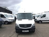 USED 2016 66 MERCEDES-BENZ SPRINTER 2.1 314 CDI MWB HIGH ROOF 140BHP EURO 6 ULEZ. FINANCE. PX 1 OWNER EURO 6 ULEZ. LOW FINANCE. PX WELCOME