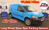 2013 VOLKSWAGEN CADDY MAXI  1.6 TDI 101 BHP in Long Wheel Base in Blue with Only 44,866 Miles, Air Conditioning, Rear Parking Sensors, Electric Pack, Service History (5 Stamps), 2 Remote Keys and more £6280.00