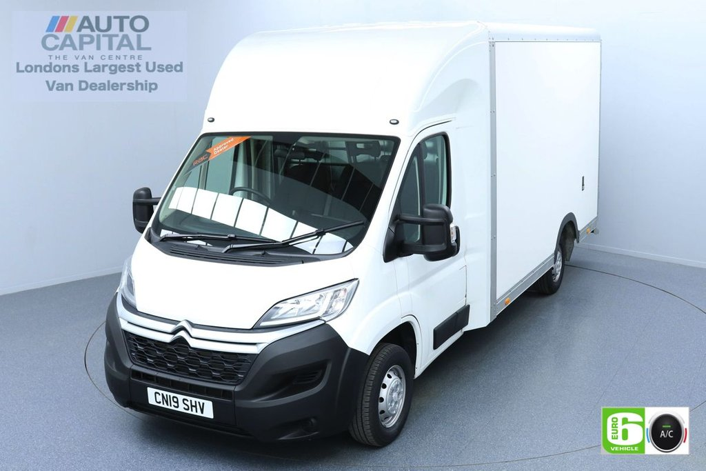 USED 2019 19 CITROEN RELAY 2.0 35 BLUEHDI 161 BHP LWB EURO 6 ENGINE LUTON LOW LOADER | AIR CON