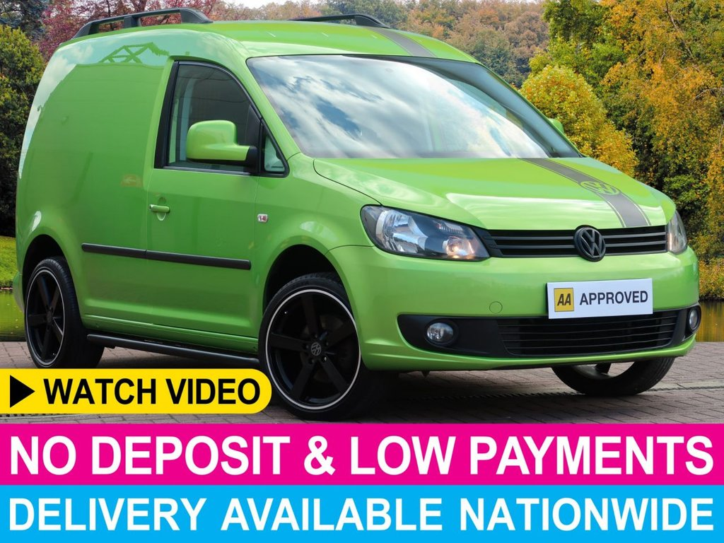 USED 2015 15 VOLKSWAGEN CADDY 1.6 TDI HIGHLINE SPORT EDITION UPGRADE VIPER GREEN FULL SPORT EDITION