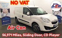 2015 VAUXHALL COMBO 1.3 2000 CDTI SPORTIVE in White with NO VAT TO PAY, Air Conditioning, 56,971 Miles, CD Player, Sliding Door, Remote Central Locking and more £5480.00