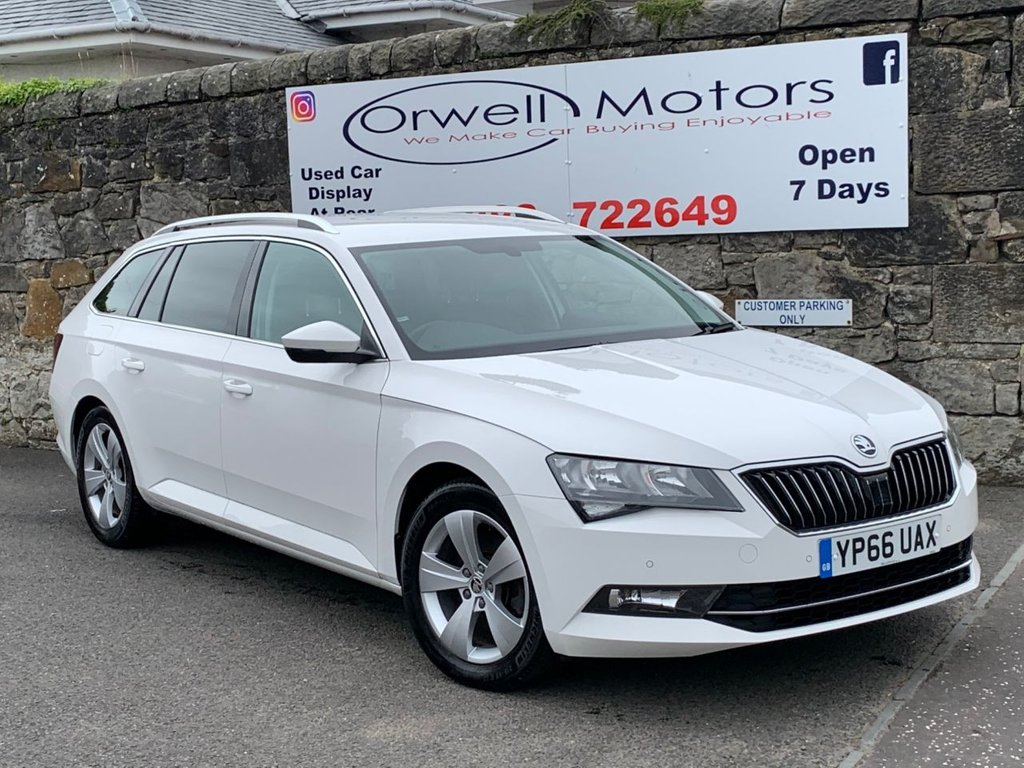USED 2016 66 SKODA SUPERB 2.0 SE TECHNOLOGY TDI 5d 148 BHP FULL SKODA SERVICE HISTORY+1 OWNER+SATELLITE NAVIGATION+CRUISE CONTROL+REVERSING CAMERA