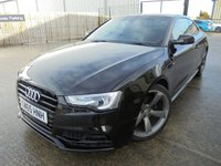 USED 2016 65 AUDI A5 2.0 TDI BLACK EDITION PLUS 3d 187 BHP Absolutely Stunning Car, FSH, No Deposit Necessary, Part Exchange Welcomed