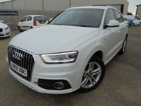 USED 2014 63 AUDI Q3 2.0 TDI S LINE 5d 138 BHP Excellent Condition, FSH, Low Rate Finance Available, No Deposit Needed, Only One Owner