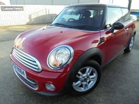 USED 2012 MINI HATCH COOPER 1.6 COOPER 3d 122 BHP Excellent Condition, No Deposit Finance Available, Part Exchange Welcomed