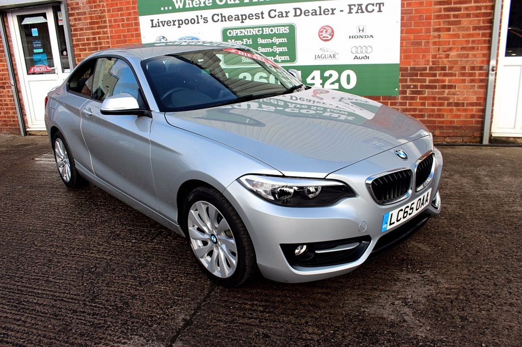 USED 2015 65 BMW 2 SERIES 2.0 218D SPORT 2d AUTO 148 BHP +AUTO +ONE OWNER +SAT NAV.