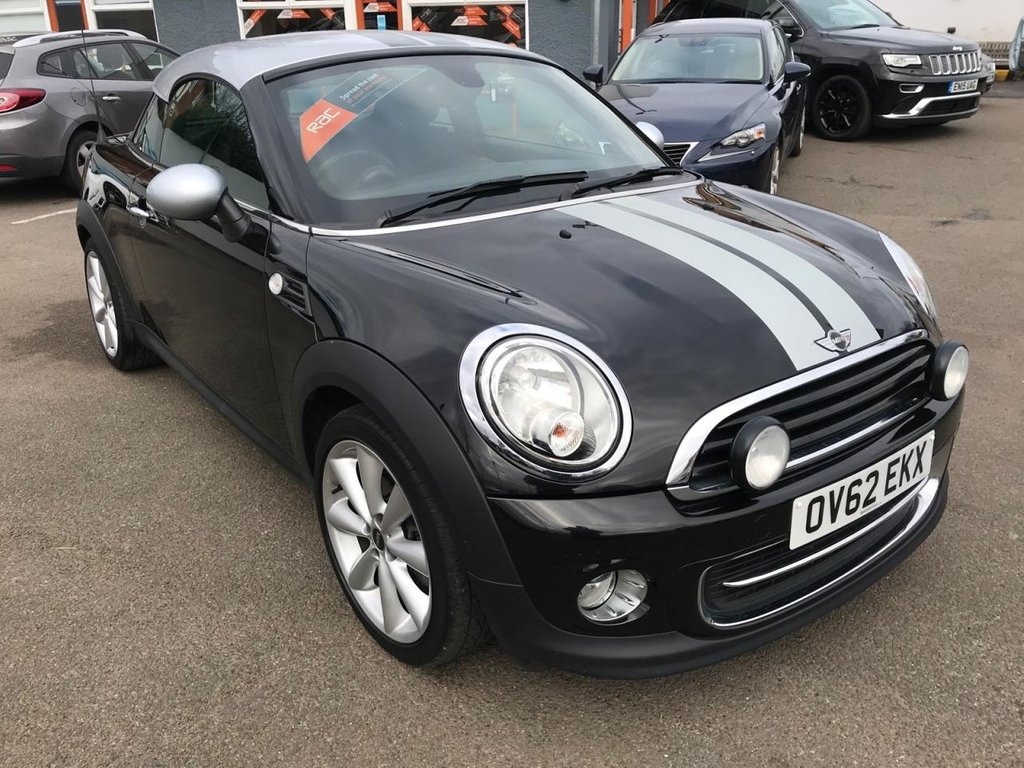 USED 2012 62 MINI COUPE 1.6 COOPER 2d 120 BHP RAC APPROVED!!!