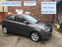 USED 2017 17 FORD KA+ 1.2 ZETEC 5d 69 BHP Only £30 Road Tax, One Private Owner, Ford Bluetooth, Cruise Control, Only 26,000 Miles !!!