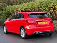 USED 2017 66 MERCEDES-BENZ A CLASS 1.5 A180d Sport (Premium Plus) 7G-DCT (s/s) 5dr JUPITER RED / PANORAMIC ROOF