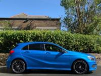 USED 2015 15 MERCEDES-BENZ A-CLASS 2.1 A220 CDI AMG Night Edition 7G-DCT 5dr SOUTH SEA BLUE / PAN ROOF