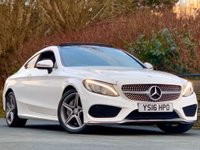 USED 2016 16 MERCEDES-BENZ C CLASS 2.1 C250d AMG Line (Premium Plus) 9G-Tronic Plus (s/s) 2dr Panoramic roof / Leather