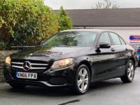 USED 2017 66 MERCEDES-BENZ C-CLASS 2.1 C220d SE Executive Edition G-Tronic+ (s/s) 4dr OBSIDIAN BLACK / SAT NAV