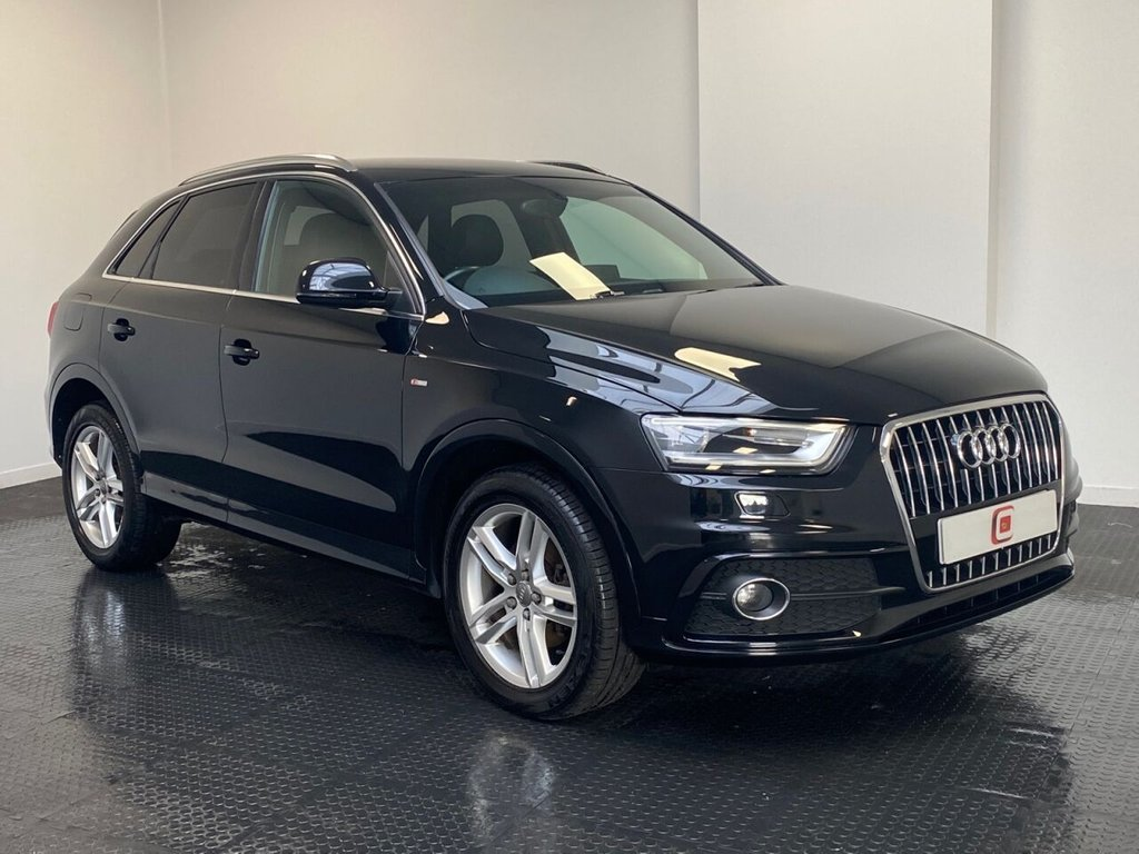 USED 2013 63 AUDI Q3 2.0 TDI QUATTRO S LINE 5d 138 BHP LOW MILES + QUATTRO MODEL + HALF LEATHER SEATS + 18 INCH ALLOYS