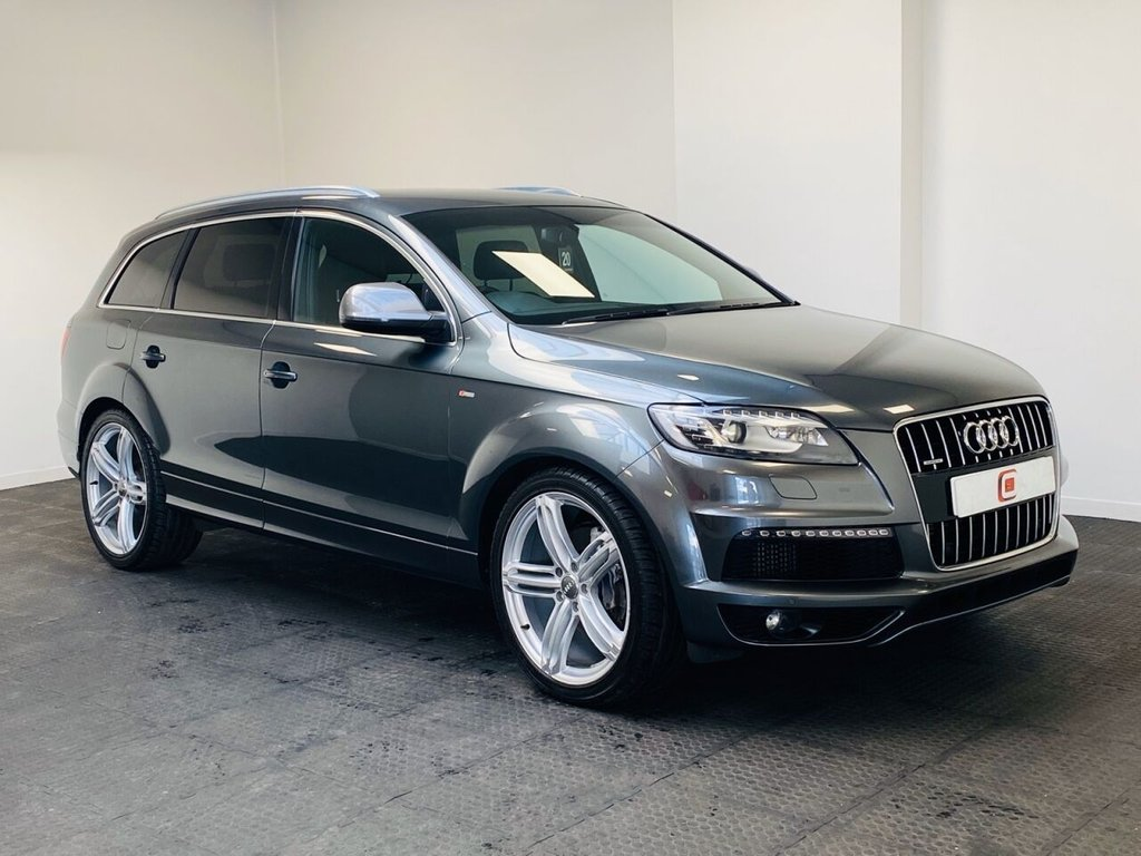 USED 2012 12 AUDI Q7 3.0 TDI QUATTRO S LINE 5d 245 BHP 22 INCH ALLOYS + LEATHER + LOW MILES + PRIVACY GLASS + 7 SEATS