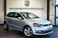 """USED 2014 64 VOLKSWAGEN POLO 1.4 SEL TDI BLUEMOTION 5DR 89 BHP Finished in a stunning reflex metallic silver styled with 16"""" alloys. Upon opening the drivers door you are presented with cloth upholstery, full service history, bluetooth, cruise control, DAB radio, touch screen interface, multi functional steering wheel, heated mirrors, parking sensors, ULEZ EXEMPT"""