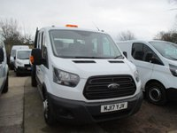 USED 2017 17 FORD TRANSIT 2.0 350 L3 Double Cab Tipper DRW 130 BHP Ford Warranty 2020 2017 17 Transit 2.0 Tdci Double Cab / Crew Cab Tipper Very Low Mileage ford warranty applies
