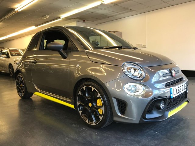 USED 2019 68 ABARTH 500 1.4 595 COMPETIZIONE 3d 177 BHP HIFI BY BEATS AUDIO SYSTEM, YELLOW BREMBO BRAKE CALIPERS.
