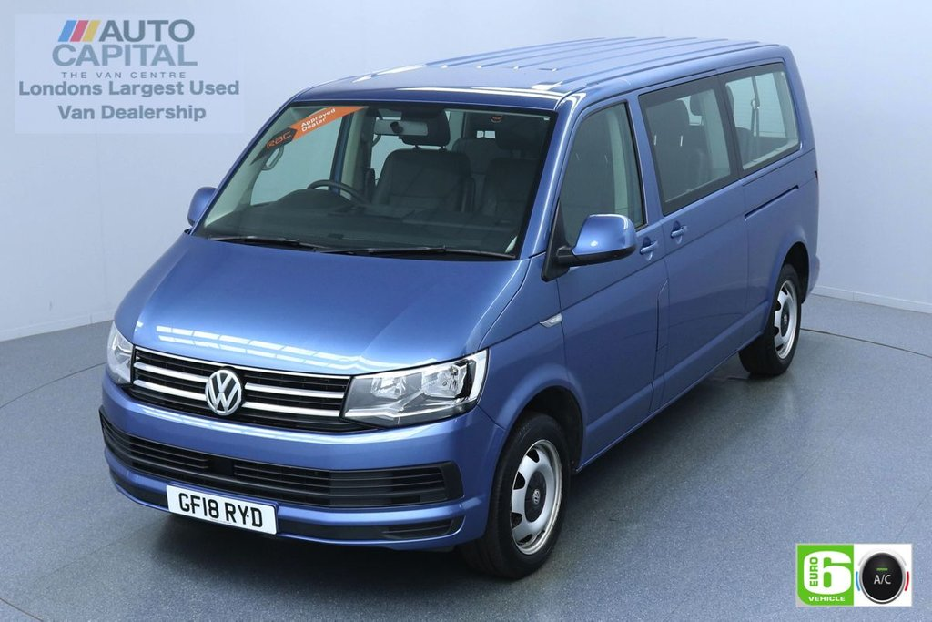 USED 2018 18 VOLKSWAGEN TRANSPORTER SHUTTLE 2.0 148 BHP LWB 9 LEATHER SEATS EURO 6 MINIBUS AUTO   AIR CON   LEATHER SEATS