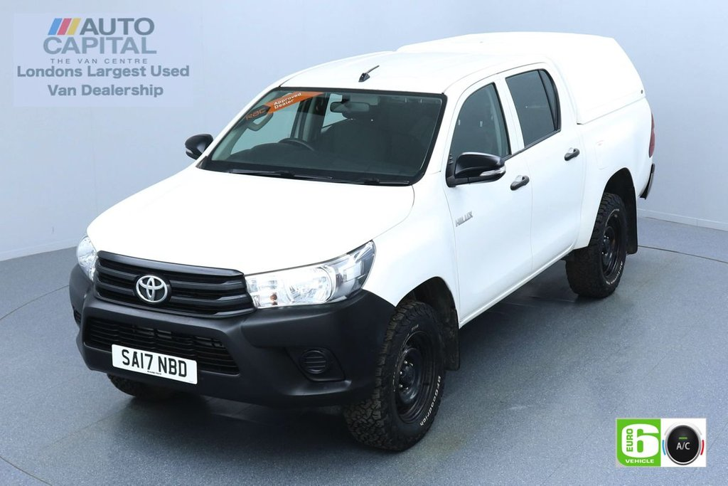 USED 2017 17 TOYOTA HI-LUX 2.4 ACTIVE 4WD D-4D DCB 148 BHP EURO 6 ENGINE AIR CON | VOICE CONTROL