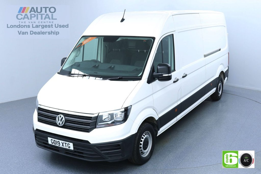 USED 2019 19 VOLKSWAGEN CRAFTER 2.0 CR35 TDI STARTLINE 138 BHP LWB EURO 6 ENGINE AIR CON | BUSINESS PACK | FRONT-REAR PARKING SENSORS