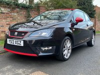 USED 2013 13 SEAT IBIZA 1.6 CR TDI FR 3d 104 BHP FULL SERVICE HISTORY 6 SERVICES, £30 TAX, 1YR MOT, EXCELLENT CONDITION,  LEATHER, ALLOYS, AIR CON, CRUISE, RADIO CD, E/WINDOWS, R/LOCKING, FREE WARRANTY, FINANCE AVAILABLE, HPI CLEAR, PART EXCHANGE WELCOME,