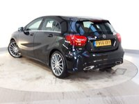 USED 2017 66 MERCEDES-BENZ A CLASS 2.1 A 200 D AMG LINE EXECUTIVE 5DR 134 BHP 1 OWNER FULL SERVICE HISTORY + £30 12 MONTHS ROAD TAX + HEATED HALF LEATHER SEATS + SATELLITE NAVIGATION + REVERSE CAMERA + ACTIVE PARK ASSIST + PARKING SENSOR + BLUETOOTH + CRUISE CONTROL + CLIMATE CONTROL + MULTI FUNCTION WHEEL + ELECTRIC WINDOWS + ELECTRIC/HEATED DOOR MIRRORS +  18 INCH ALLOY WHEELS