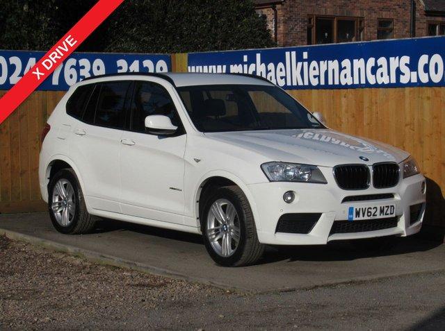 USED 2012 62 BMW X3 2.0 XDRIVE20D M SPORT 5d 181 BHP BLUETOOTH, AUX/USB INPUT