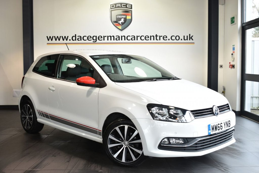"""USED 2016 66 VOLKSWAGEN POLO 1.0 BEATS 3DR 74 BHP Finished in a stunning white styled with 16"""" alloys. Upon opening the drivers door you are presented with half leather/alcantara upholstery, full service history, bluetooth, DAB radio, cruise control, BEATS sound system, sport seats, heated mirrors, USB/AUX port, parking sensors, ULEZ EXEMPT"""